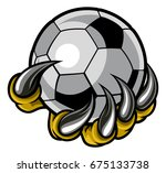 a monster or animal claw or... | Shutterstock .eps vector #675133738