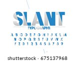 vector of modern stylized font... | Shutterstock .eps vector #675137968