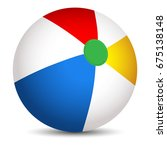 vector colorful beach ball... | Shutterstock .eps vector #675138148