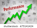 close up of performance text ... | Shutterstock . vector #675141424
