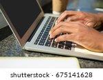 cropped hands of businessman...   Shutterstock . vector #675141628