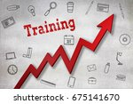 close up of training text... | Shutterstock . vector #675141670