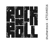 rock n roll lettering with... | Shutterstock .eps vector #675144016