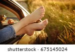 woman legs out the windows in... | Shutterstock . vector #675145024