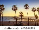 Manhattan Beach Pier At Sunset...