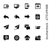 miscellaneous email icon set | Shutterstock .eps vector #675149488