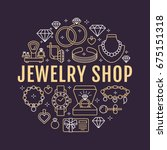 jewelry shop  diamond... | Shutterstock .eps vector #675151318