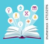 open book concepr with... | Shutterstock .eps vector #675152596
