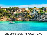 porto cristo  beautiful... | Shutterstock . vector #675154270