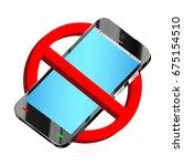 do not use smartphone... | Shutterstock .eps vector #675154510