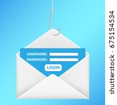fishing hook phishing email... | Shutterstock .eps vector #675154534