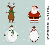 cute vector christmas characters