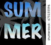 summer card  invitation. summer ... | Shutterstock .eps vector #675155596