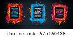futuristic frame art design... | Shutterstock . vector #675160438