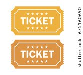 old cinema ticket vector... | Shutterstock .eps vector #675160690
