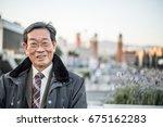 japanese senior old man... | Shutterstock . vector #675162283