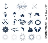 summer icons | Shutterstock .eps vector #675169249