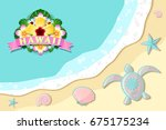 top view of seashore with sea...   Shutterstock .eps vector #675175234