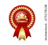 premium quality rosette placed... | Shutterstock .eps vector #675178138