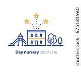 kindergarten concept  day care... | Shutterstock .eps vector #675181960