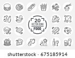 food icons. set includes vector ... | Shutterstock .eps vector #675185914