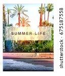 photo print california beach... | Shutterstock . vector #675187558