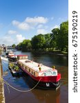 york uk river ouse looking... | Shutterstock . vector #675190219