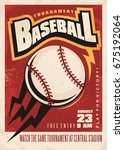 baseball tournament retro... | Shutterstock .eps vector #675192064