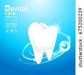 dental care and teeth on...   Shutterstock .eps vector #675200239
