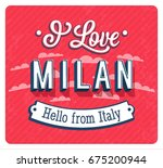 vintage greeting card from... | Shutterstock .eps vector #675200944