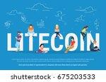 litecoin concept vector...   Shutterstock .eps vector #675203533