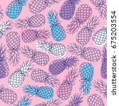 vector seamless pattern with... | Shutterstock .eps vector #675203554