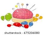 needle bed  needles  vector... | Shutterstock .eps vector #675206080