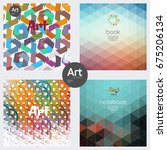 minimal covers design. warm... | Shutterstock .eps vector #675206134