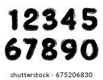 set of grunge numbers.vector... | Shutterstock .eps vector #675206830