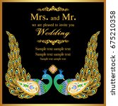 wedding invitation or card with ... | Shutterstock .eps vector #675210358