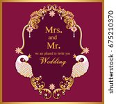 wedding invitation or card with ... | Shutterstock .eps vector #675210370