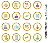 human resources icons circle...   Shutterstock .eps vector #675210868