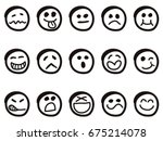 Isolated Doodle Cartoon Smiley...