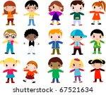group of children | Shutterstock .eps vector #67521634