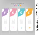 infographic template of four... | Shutterstock .eps vector #675218263