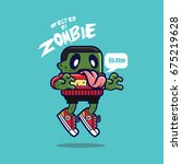 infected by zombie | Shutterstock .eps vector #675219628