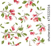 vector seamless pattern with... | Shutterstock .eps vector #675222316