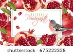 vector horizontal banner with... | Shutterstock .eps vector #675222328