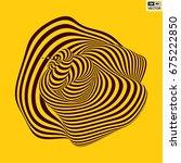 abstract 3d geometrical... | Shutterstock .eps vector #675222850