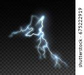 realistic shiny lightning...   Shutterstock .eps vector #675222919