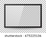 empty led monitor of computer... | Shutterstock .eps vector #675225136
