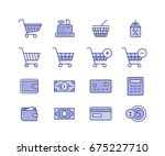 shopping and icons for online... | Shutterstock .eps vector #675227710