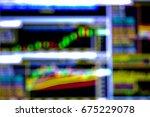 stock exchange graph chart... | Shutterstock . vector #675229078
