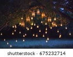night wedding ceremony with a... | Shutterstock . vector #675232714